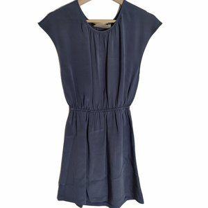 Aaron Ashe Silk Blue Mini Dress Size Small